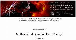 A First Idea Of Quantum Field Theory