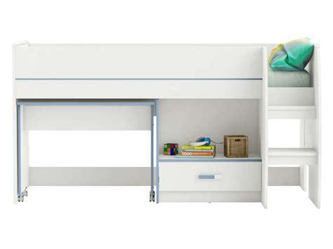 combiné lit bureau conforama lit combiné 90x190 cm switch coloris blanc vente de lit