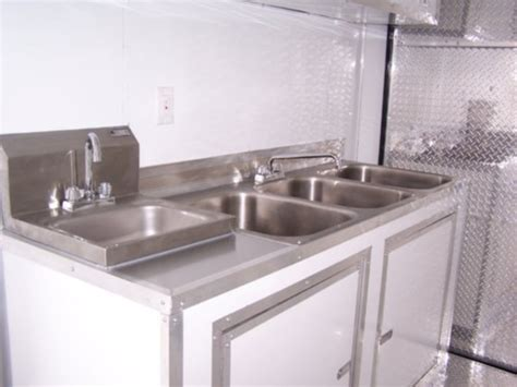 Concession Trailer Sink Package by Deluxe Concession Sink With Wash Sink