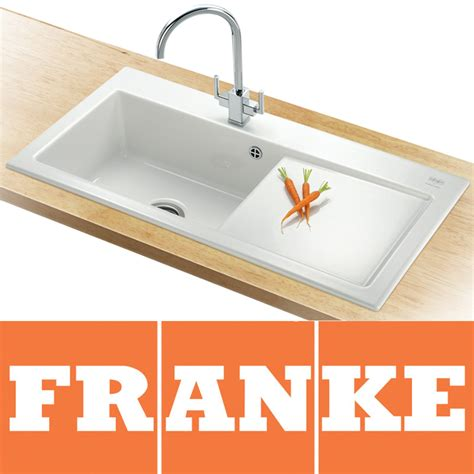 franke ceramic kitchen sinks franke mythos 1 0 bowl gloss white ceramic kitchen sink 3519