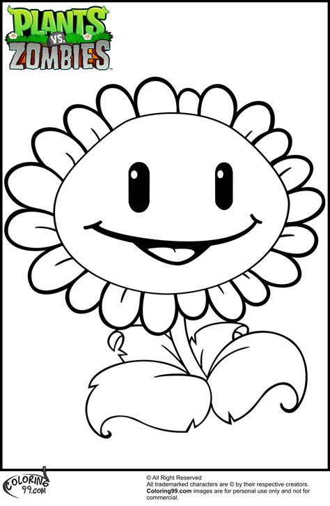 coloring pages  plants  zombies print color craft