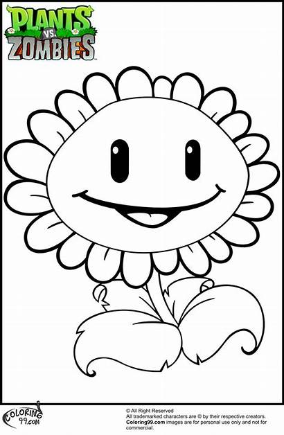 Coloring Zombies Plants Pages Printable Craft Related