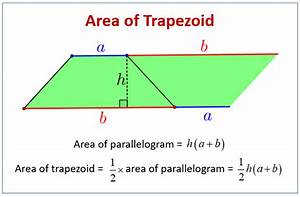 Area Of Trapezoids Word Problems  Examples  Solutions  Videos  Worksheets  Games  U0026 Activities