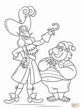 Hook Captain Coloring Pages Smee Mr Pirate Drawing Tick Tock Printable Jake Pirates Neverland Croc Template Cartoon Sketch Non Super sketch template