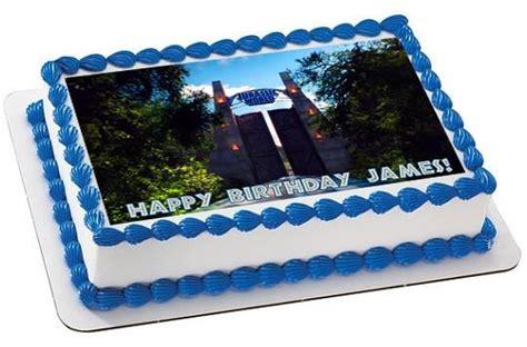 jurassic world  edible birthday cake  cupcake topper