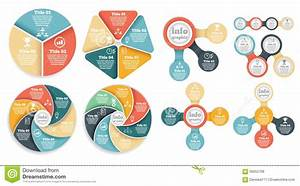 Set Of Business Circle Info Graphic  Diagram Stock Vector