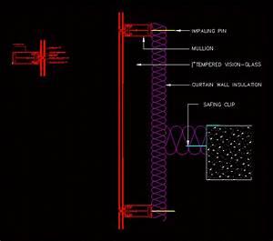 Curtain Wall Dwg Detail For Autocad  U2022 Designs Cad