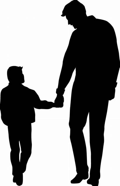 Father Son Silhouette Clip Clipart Fathers Dad