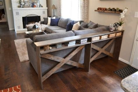 DIY Sofa Tables to Dress Up the Back of a Couch   Dig This