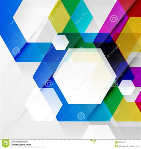rainbow hexagons modern design template royalty free stock