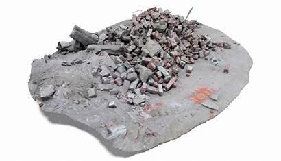 3d Rubble Debris Turbosquid Texture Architectural Models