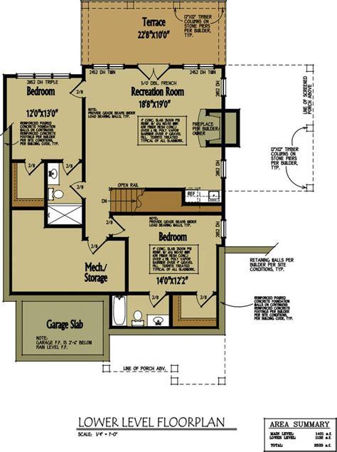 small cabin home plan  open living floor plan