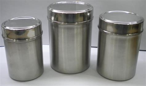 stainless steel kitchen canister set stainless steel storage containers with lids second