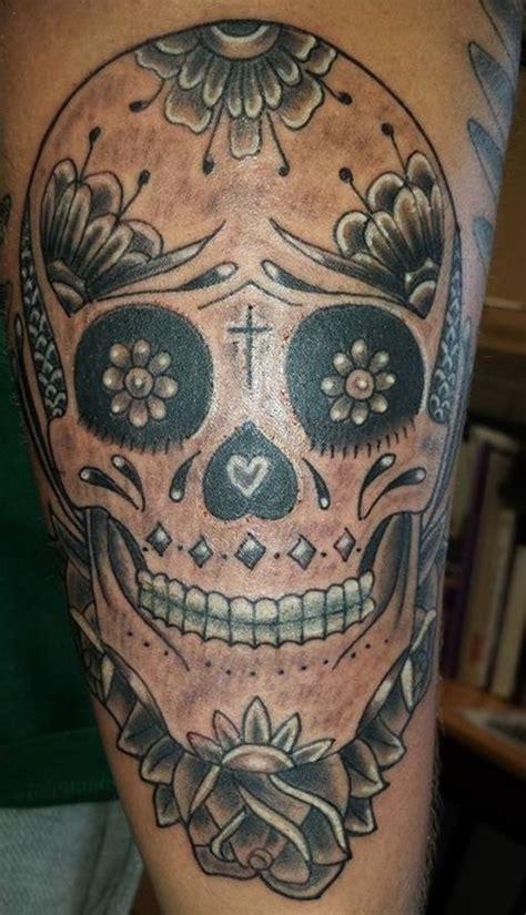 sugar skull tattoo meaning designs