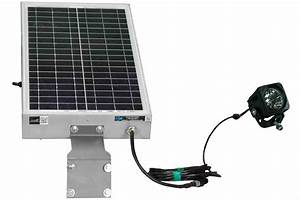 Solar Powered 10 Watt Led Light - 12 Hour Run Time  Night Photocell Or Motion Sensor