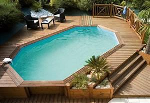 piscine bois cerland adeline piscines With terrasse bois avec piscine 7 multi services photos realisations piscines