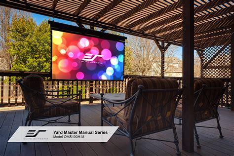 Elite Screens® Yard Master Manual Series Outdoor Pull