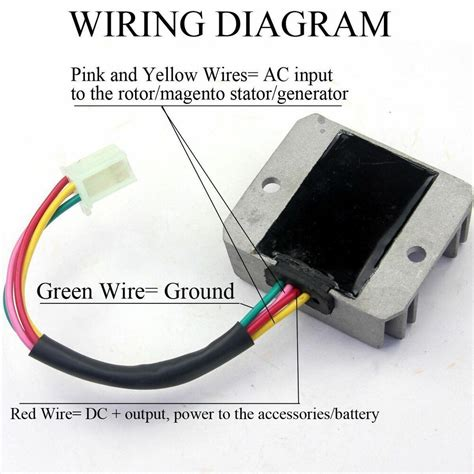 Wire Male Plug Voltage Regulator Rectifier For Atv Dirt