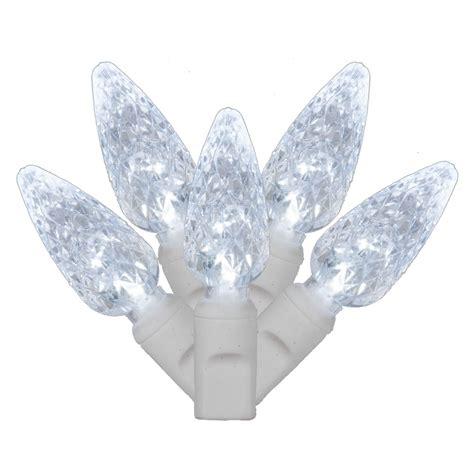 c6 cool white led christmas lights vickerman 100 light cool white c6 led light set