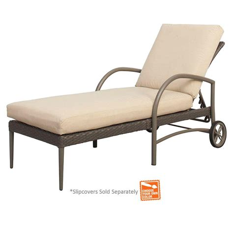 hton bay posada patio chaise lounge with cushion insert