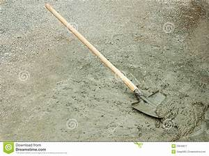 Shovel And Wet Cement Royalty Free Stock Photography ...