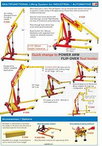 Dual Air  Manual Operated Engine Crane  Lifting System  Model 5200