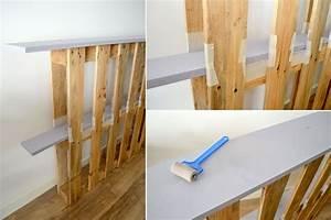 Lit En Palette Avec Rangement : la t te de lit en palette maison diy h ~ Melissatoandfro.com Idées de Décoration