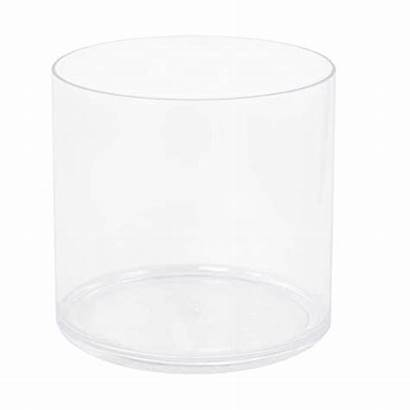 Cylinder Plastic Clear Acrylic Tall Vase Shape