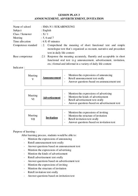 high school lesson plans format lesson plan exles for