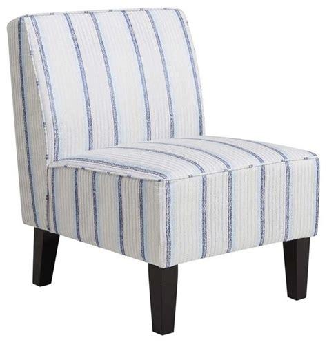 shop houzz pri pri striped armless slipper chair blue