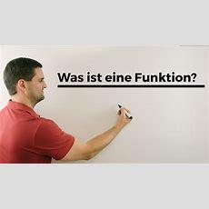 Was Ist Eine Funktion, Mit Wertetabelle Und