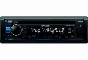 Kenwood Kdc 200ub Blue Single Din Radio Cd Mp3 Wma Flac