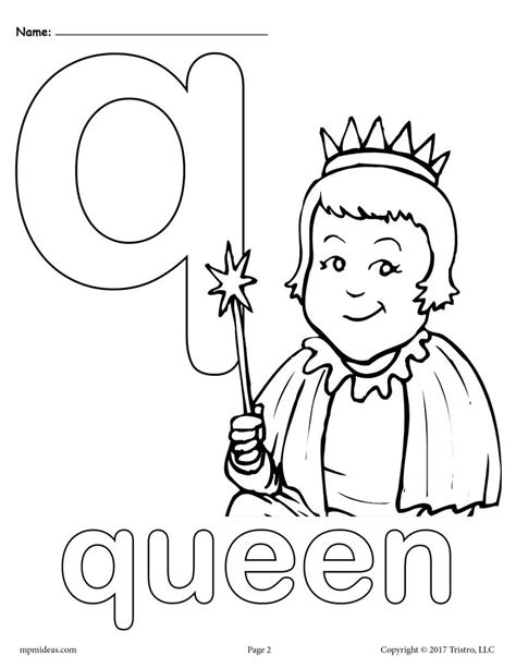 letter q alphabet coloring pages 3 free printable versions supplyme
