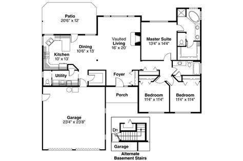 Fischer Homes Paxton Floor Plan by Ranch House Plans Paxton 30 320 Associated Designs