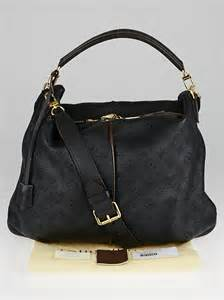 louis vuitton black monogram mahina leather selene mm bag yoogis closet