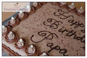 Chocolate Slab Cake - Emotions Catering - Cornwall Ontario