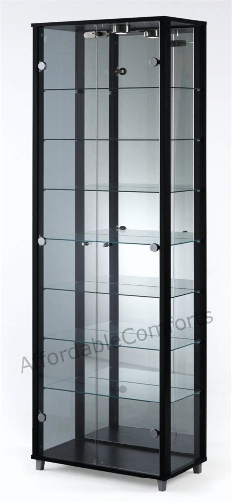 used lockable glass display cabinets beautiful glass corner display cabinet on details about