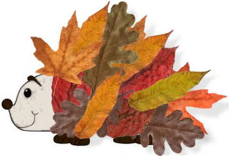 leaf hedgehog paper craft