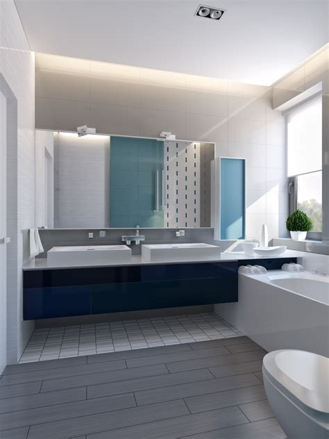modern vibrant blue bathroom 1 interior design ideas