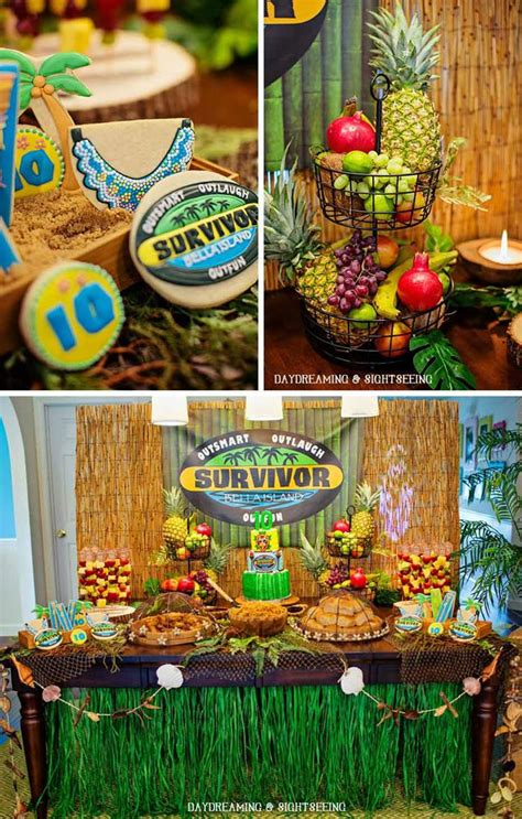 Kara's Party Ideas Survivor Party Planning Ideas Supplies ...