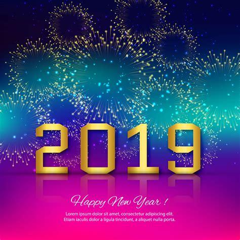 elegant  happy  year colorful card design