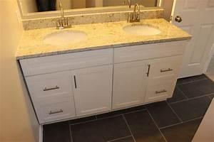 Traditional White Shaker Bathroom Vanities - RTA Kitchen