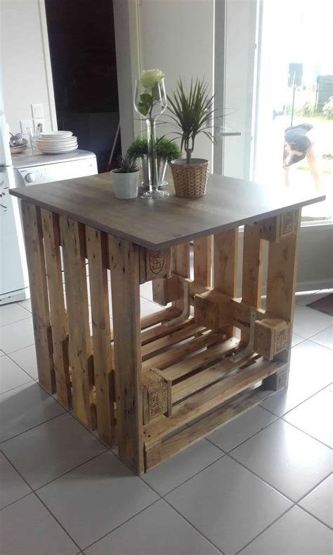 cuisines ilot central îlot central cuisine pallet kitchen island 1001 pallets