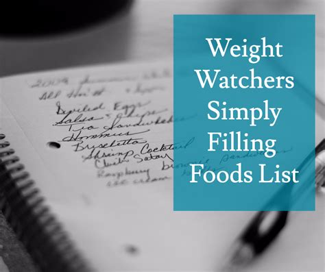 weight watchers simply filling worksheet dandk