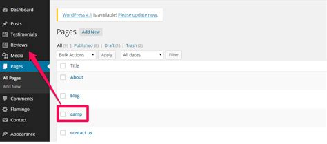 How To Move My Page Into Wordpress Dashboard Main Menu