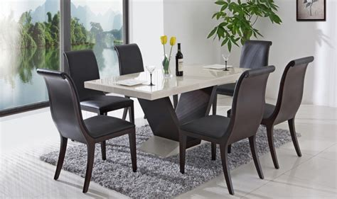 modern black dining table and chairs modern dining room tables sets minimalist but look so