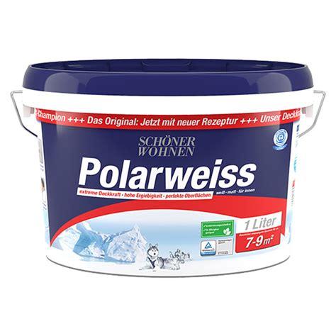 Schöner Wohnen Polarweiss 25 L by Sch 246 Ner Wohnen Wandfarbe Polarwei 223 Wei 223 1 L Matt Bauhaus
