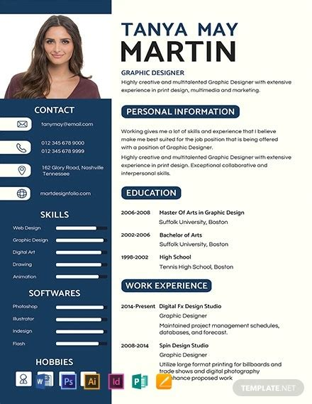 professional resume template word  psd
