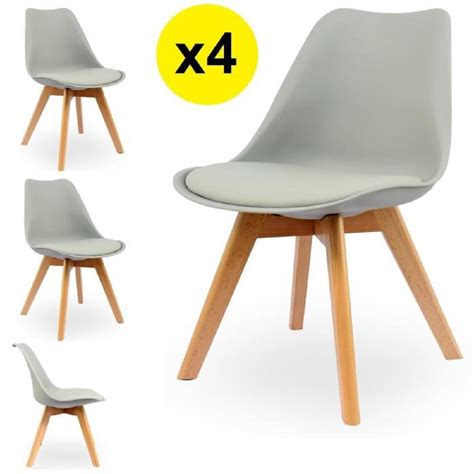 chaises cdiscount chaise scandinave grise achat vente chaise scandinave