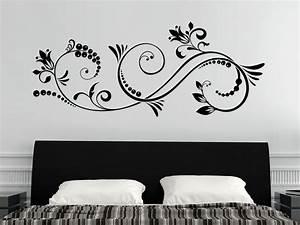 Wandtattoo Für Schlafzimmer : wandtattoo elegantes ornament mit bl ten wandtattoo de ~ Buech-reservation.com Haus und Dekorationen